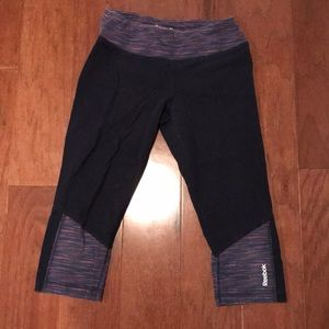 Fun Reebok crop leggings knee length cotton blue